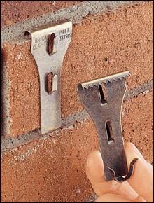 How to hang things on brick- brick clip