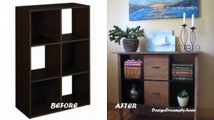 Cube Storage Makeover Before and After