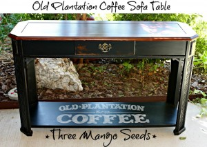 Old Plantation Coffee Sofa Table