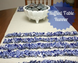 ruffled table runner