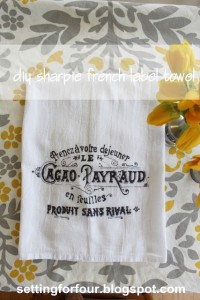 french towel